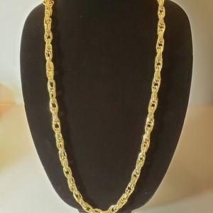 ALFANI Gold Tone Twist Oval Rope Chain Chunky NWT